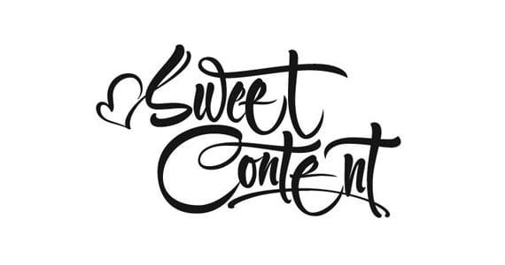 Sweet Content, lettering de Spit