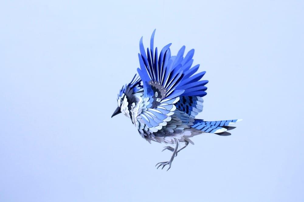Aves hechas de papel