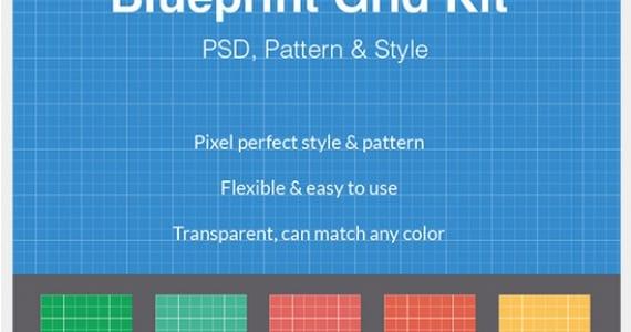 Blue print grid print