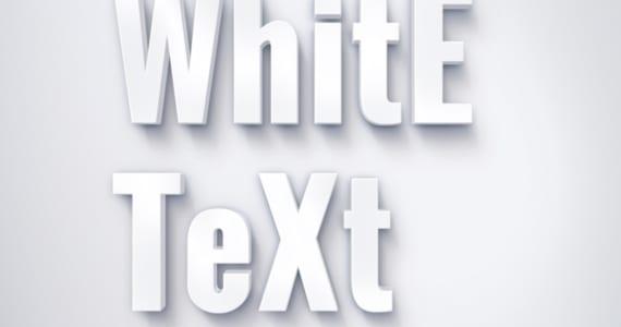 Efecto de texto blanco suave