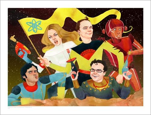 tributo-ilustrado-a- the- big-bang-theory-