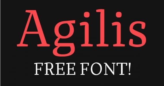 Agilis - Saga de 5 Tipografías Gratis (V)