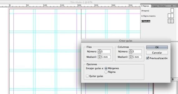 Creando retícula en InDesign