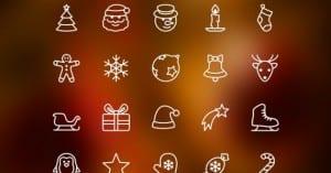 Iconos gratis de Navidad