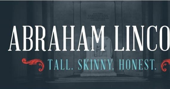 Abraham Lincoln, tipografía