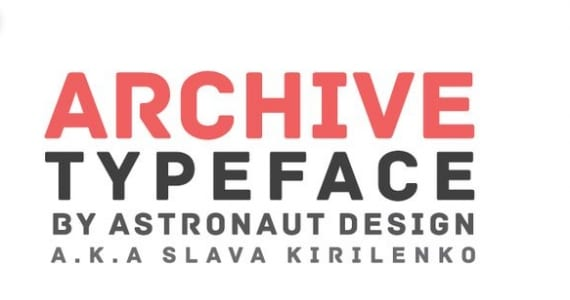 Archive, tipografía
