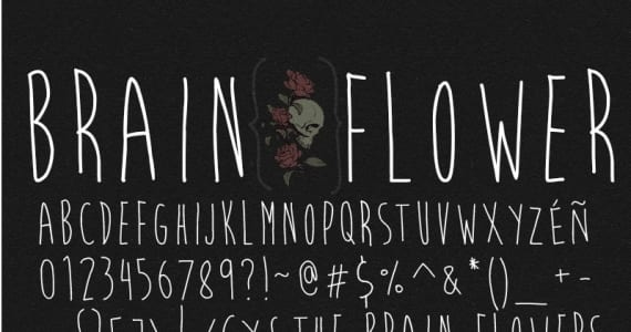 Brain Flower, tipografía