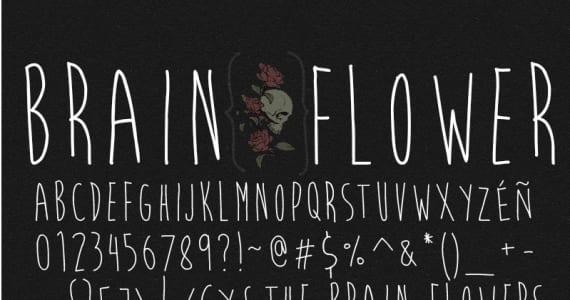 Brain Flower, tipografía