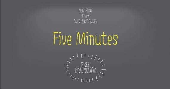 Tipografía gratuita Five Minutes