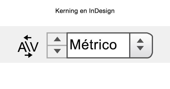 Icono del kerning en InDesign