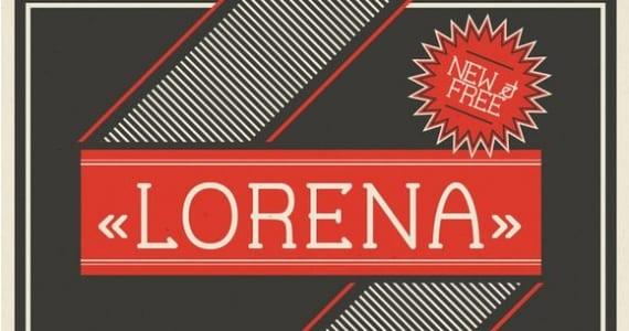 Lorena, tipografía
