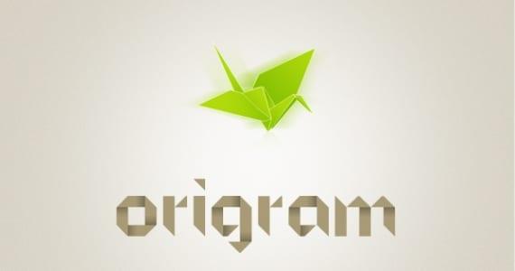 Origrami, tipografía de origami