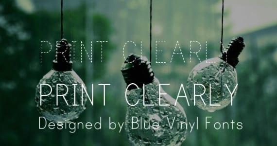 Print Clearly, tipografía gratis para diseño web