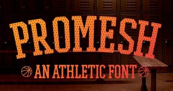 Promesh, tipografía para deporte
