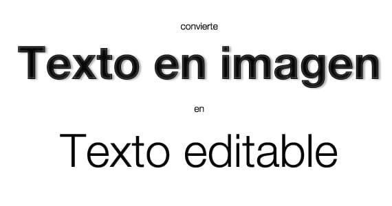 Convierte texto en imagen en texto editable