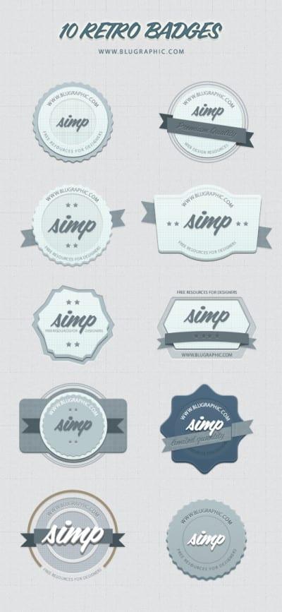 Badges de estilo retro