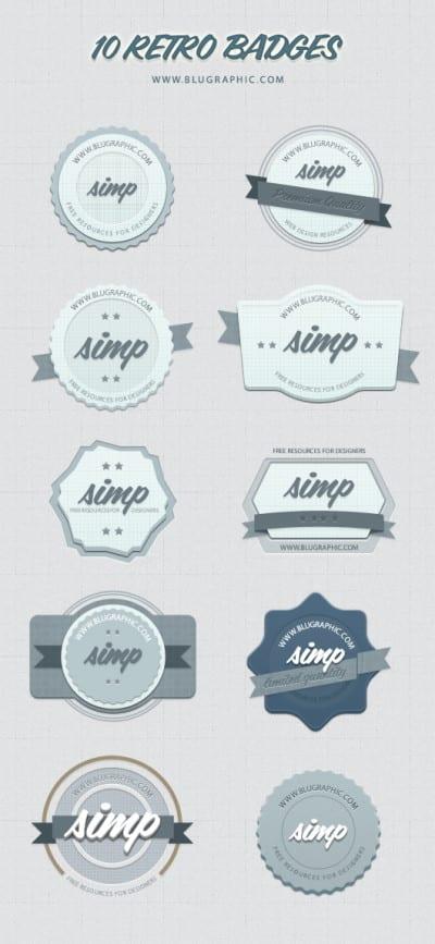 Badges de estilo retro