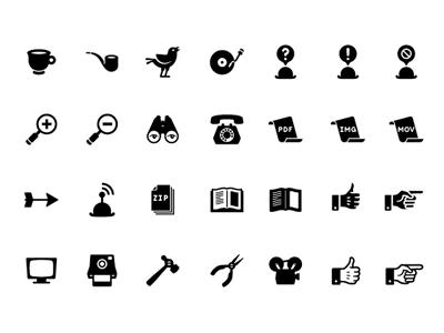 Iconos al estilo retro