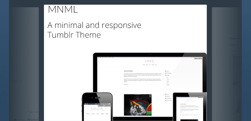 MNML, tema minimal y responsive para Tumblr