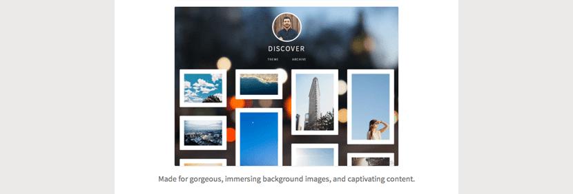 Discover, plantilla con fondo de imagen