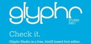 Glyphr, editor de tipografías online