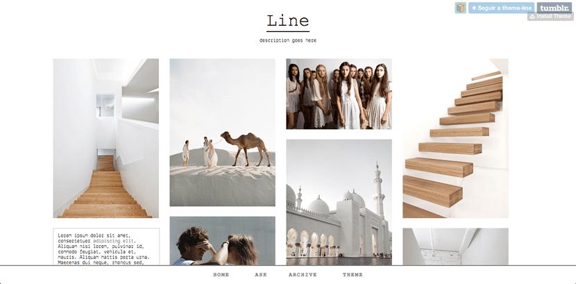 Line, tema minimal