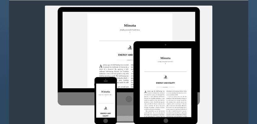 Minuta, un blog responsive