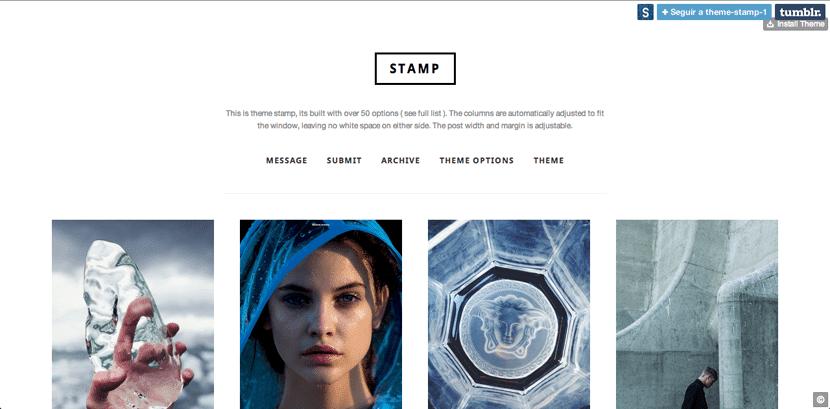 Stamp, tema elegante y limpio para Tumblr