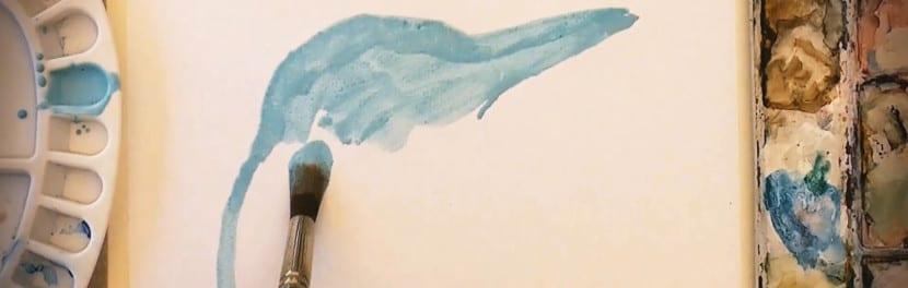 Pinceles con textura de acuarela