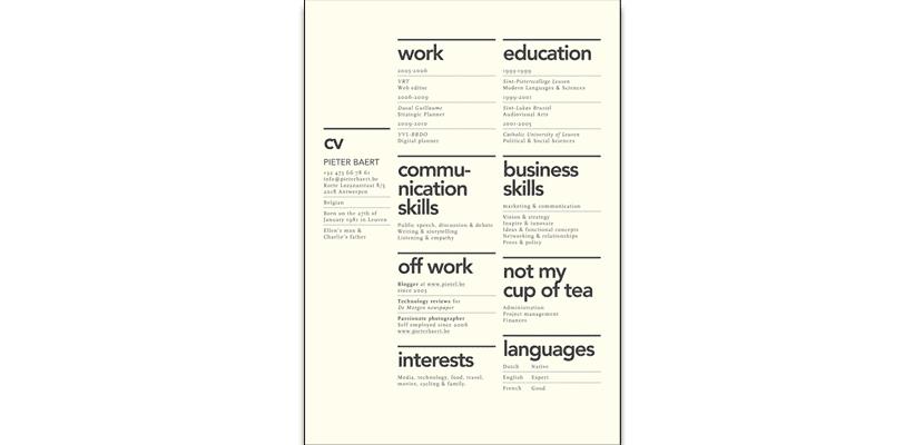 Curriculum minimal