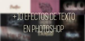 Efectos de texto en Photoshop