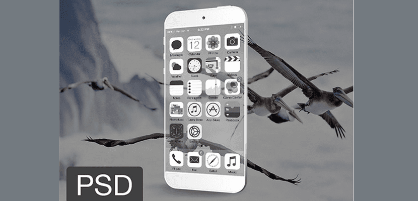 iPhone transparente
