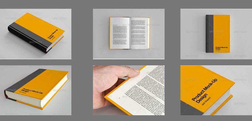 Libro de tapa dura forrada de tela, mockup