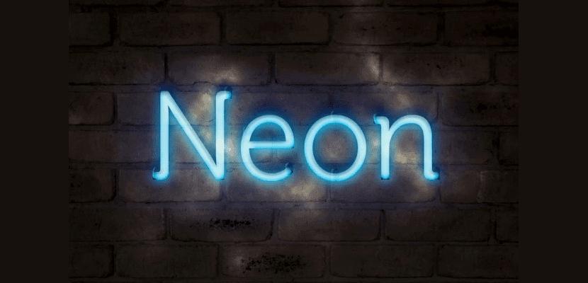 Neón azul