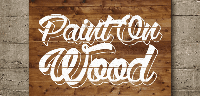 Pintado sobre madera