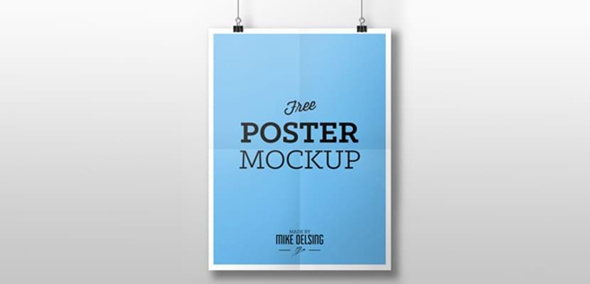 Poster con marco blanco