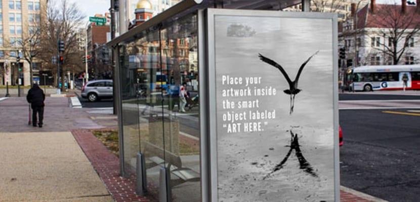 Free Bus Stop Branding Mockup PSD
