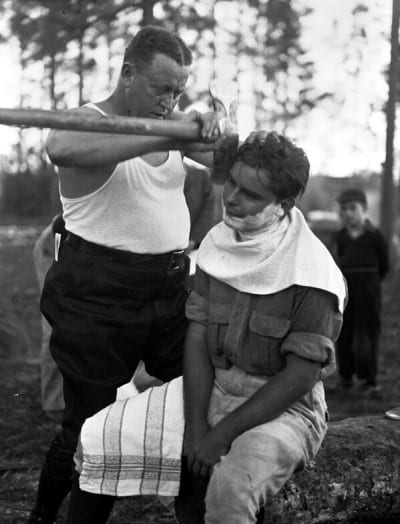 afeitandose