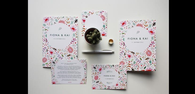 Invitación de la boda de Fiona y Kai