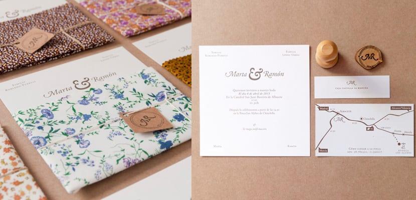 Invitación de boda de Marta y Ramón