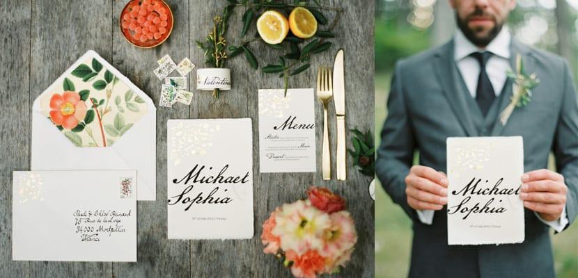 Flores en la boda de Michael y Sophia