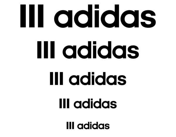 Concepto de logotipo Adidas