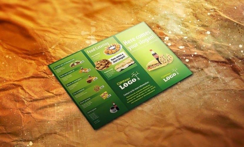 Folleto Flyer para restaurantes