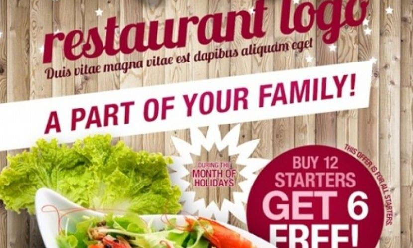 Flyer para restaurantes estilo rústico