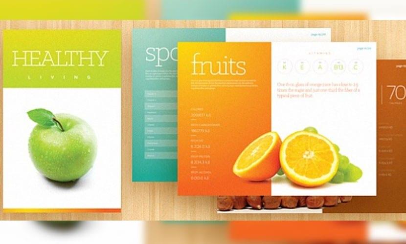 Plantilla de nutrición y estilos de vida saludable