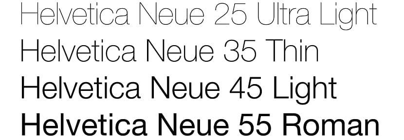 Helvetica neu light