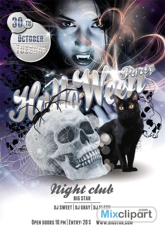 19 templates gratuitos de flyers y posters para Halloween (PSD)