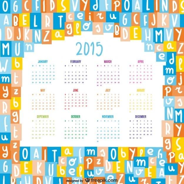 calendario-2015-con-letras-del-afabeto_23-2147496316