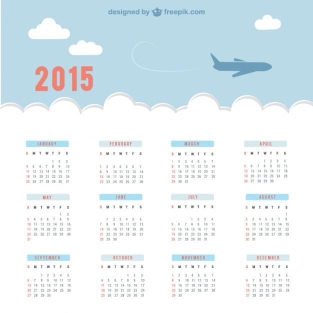 calendario-de-2015-con-cielo-y-avion_23-2147497119
