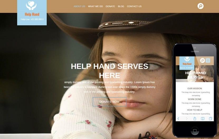 Help Hand, una de las plantillas HTML5 responsive